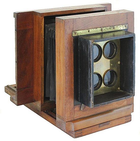 Peck Style 4 Tube CdV Wetplate Camera 1860s