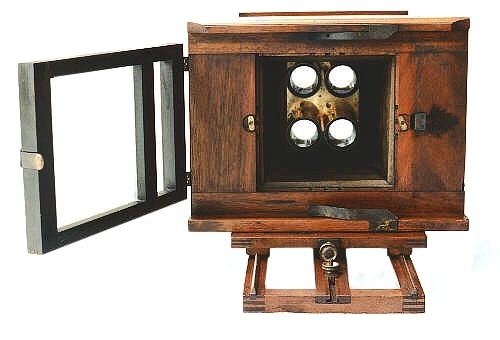 Rear View Showing Collodion Staining