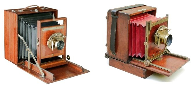 Comparison of Pearsall's 1883 Compact Camera with Gibb's 1888 camera.