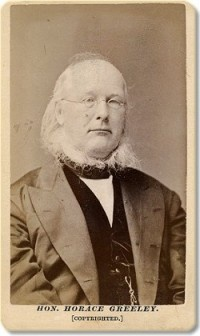 Frank's 1872 CDV portrait of Horace Greeley