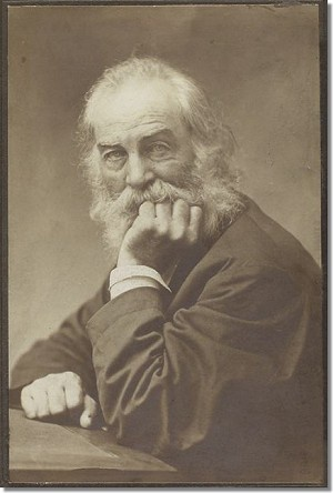Frank's c.1872 portrait of Walt Whitman (source: NYPL)