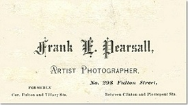 Frank's 1871-72 business card.
